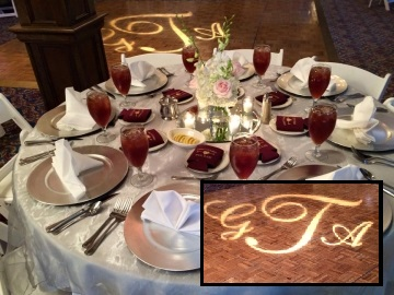 Custom Spotlight Monogram at Golden Eagle Country Club